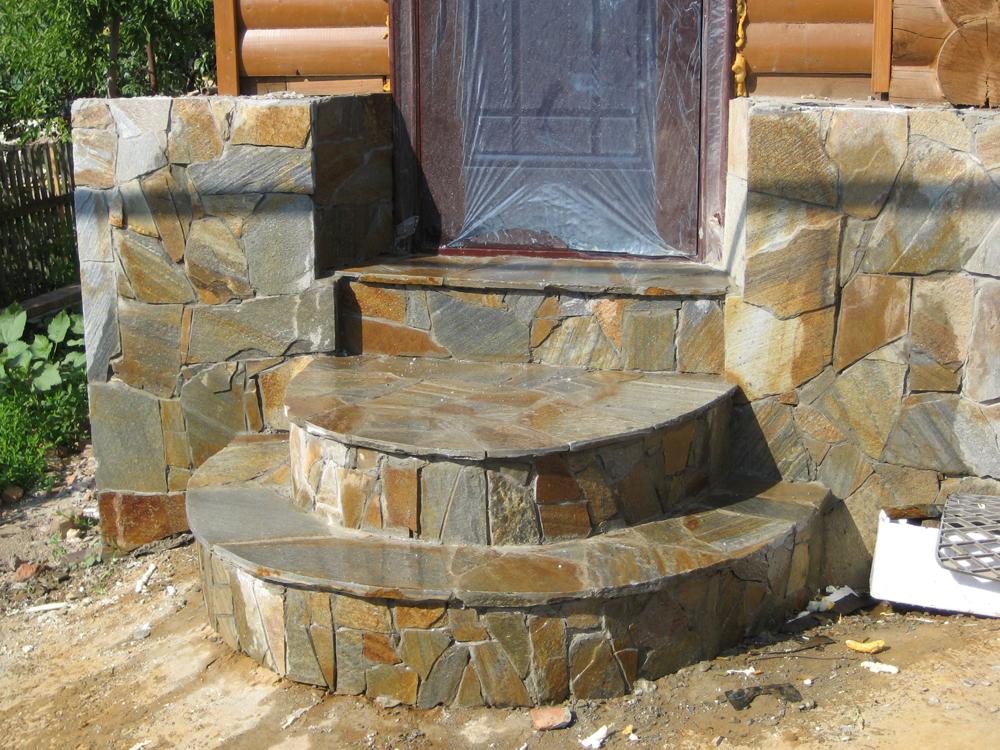 Каменное крыльцо в частном доме фото